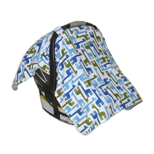 Car Seat & Stroller Canopy/Cover Giraffe (Blue) front-211398