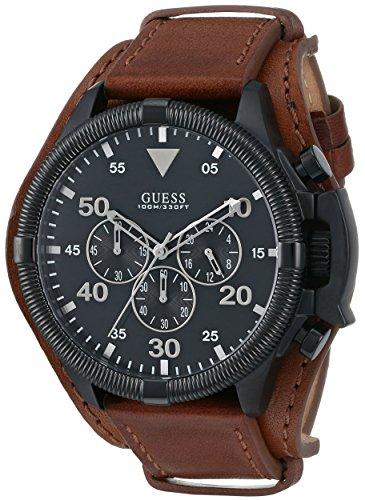 Para hombre GUESS U0480G2 de tamaño maxi miel marrón puños reloj cronógrafo