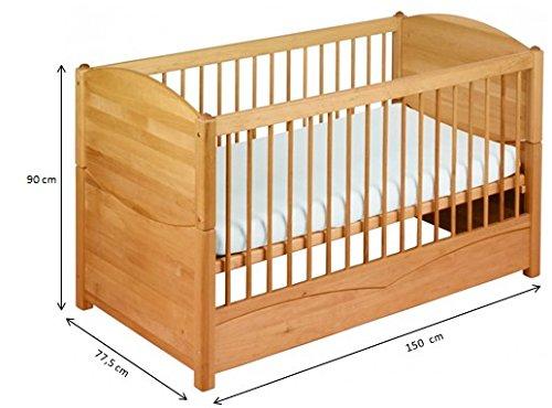 Économies fixés: Luca Babybed 70x140 avec suspension pour auvent. Alderwood biologique