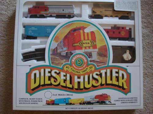 Bachmann HO Electric Train Set Santa Fe Diesel Hustler
