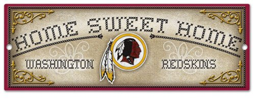 Washington Redskins Home Sweet Home Country Décor Wood Sign