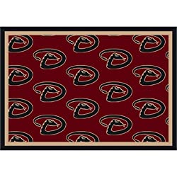 "MLB Team Repeat Baseball Novelty Rug Rug Size: Runner 2'1"" x 7'8"", MLB Team: Arizona Diamondbacks"