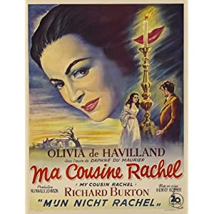 My Cousin Rachel Poster Movie German 11x17 Olivia de Havilland Richard Burton Audrey Dalton