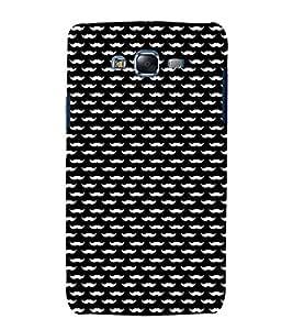 printtech Mini Moustache Design Back Case Cover for Samsung Galaxy E5 / Samsung Galaxy E5 E500F