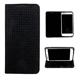 DooDa PU Leather Flip Case Cover For Micromax Canvas 4+ A315 (Black)