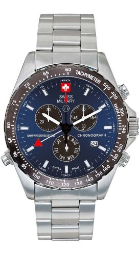 Swiss Military Hanowa Men's 06-5007-04-003 Navigator 316L Stainless Steel Blue Dial Watch