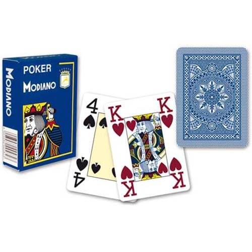 Modiano Poker Cristallo Jumbo Index Plastic Playing Cards (Light Blue)