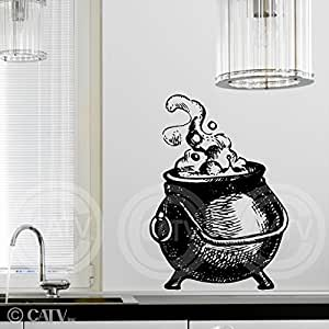 Amazon.com - Halloween Witch Cauldron vinyl lettering decal home decor ...