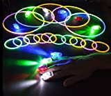 """Glow Sticks Party Pack - 8"""" Glowsticks 100 Count AND 40 Super Bright Rave LED Finger Lights Assorted Color"""