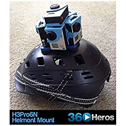 360Heros H3PRO6 360 Video Holder for GoPro Cameras with 3/8-Inch Mount