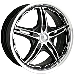MPW Series MP109 Black Wheel with Machined Face and Lip (18x7.5