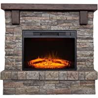 Polyfiber Electric Fireplace with 41