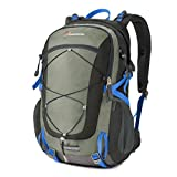 Mountaintop 40L Lightweight Daypack Camping Backpack/Travel Daypack/Casual Backpack/School Backpck for Outdoor Sport-5832II (Gray)