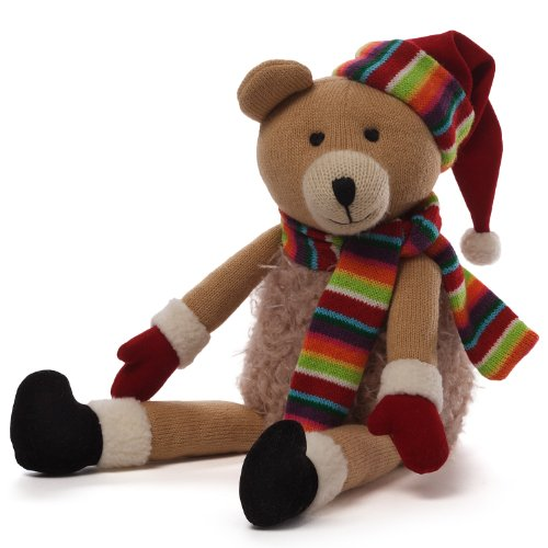 "Gund Christmas Knit Bear Plush, 7.5"" - 1"