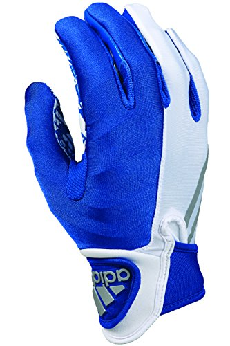 adidas CrazyQUICK 3.0 Adult Padded Receiver's Football Gloves, White/Royal, Medium (Adidas Crazyquick Football Gloves compare prices)