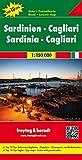 Freytag Berndt Autokarten, Sardinien-Cagliari, Top 10 Tips - Maßstab 1:150.000