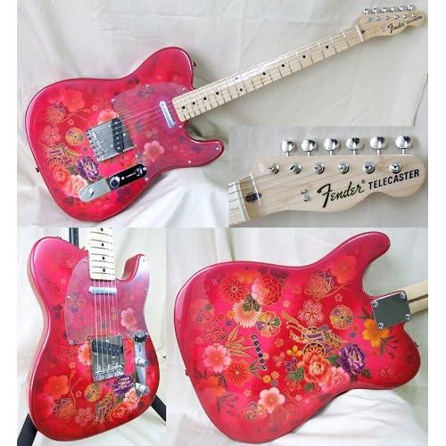 Amazon.com: NEW Fender Japan TL69-SPL Telecaster RED PRO JRD Paisley