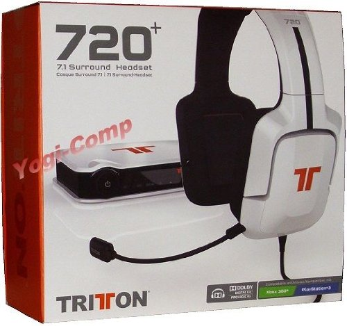 Brand New!! Tritton 720+ 7.1 Surround Gaming Headphones For Pc Xbox 360 Ps3 New!