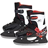 XQ MAX ADJUSTABLE BOYS ICE SKATES ICE SKATING BOOTS SHOES PRO BLADES 3 SIZES