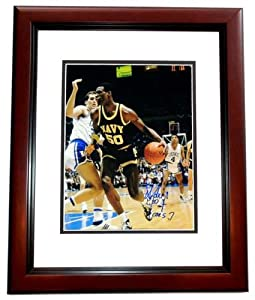 David Robinson Autographed Hand Signed NAVY 11x14 Photo - MAHOGANY CUSTOM FRAME - San... by Real+Deal+Memorabilia