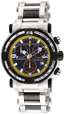 Chase-Durer Men's 224.2BY-BRA Trackmaster Pro-Chronograph 2nd Edition Stainless Steel and Black Ion-Plated Watch