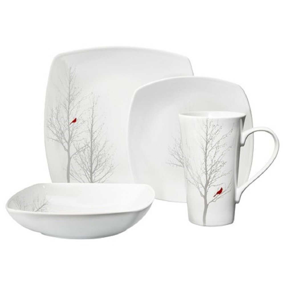 winter cardinal dinnerware
