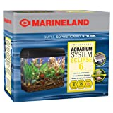 Marineland Eclipse Seamless Integrated Aquarium System Six, 6 Gallons
