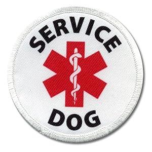 Amazon.com: SERVICE DOG Assistance Animal Red Medical Alert Symbol 3