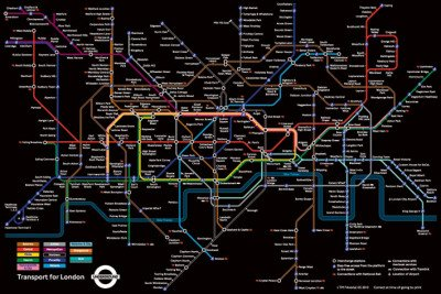 Underground Transport for London Art Print Poster - 24x36