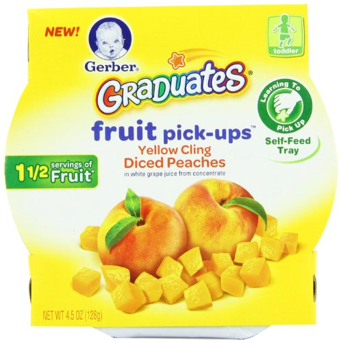 Gerber Graduates Fruit Pick Ups - Peach, 4.5-Ounce (Pack of 8) - 1