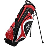 Stewart Golf Superlight Stand Bag - Black/Red