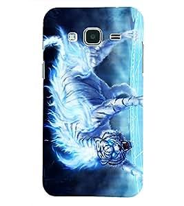PRINTSHOPPII TIGER Back Case Cover for Samsung Glaxy J3 New Edition (2016)