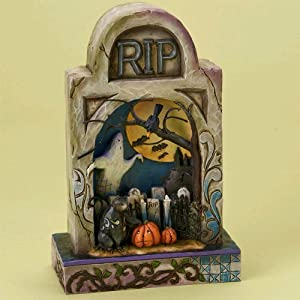 #!Cheap Jim Shore Halloween Haunted Eve - Graveyard Lighted Diorama Figurine