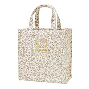 [Hello Kitty]Laminated tote bag S floret