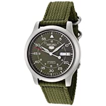 Hot Sale Seiko Men's SNK805 Seiko 5 Automatic Green Canvas Strap Casual Watch