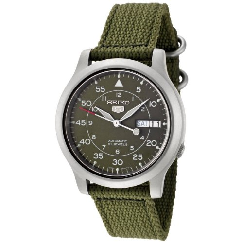 Seiko Men's SNK805 Seiko 5 Automatic Green Canvas