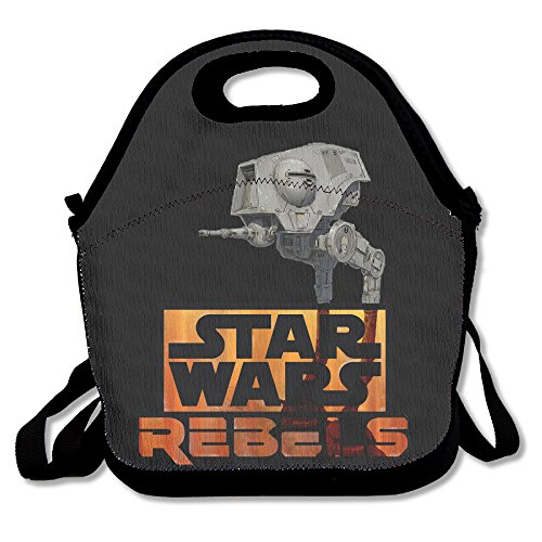Star Rebels Wars Lunch Bag Travel Zipper Organizer Bag, Waterproof Outdoor Travel Picnic Lunch Box Bag Tote With Zipper And Adjustable Crossbody Strap (Carlos Bake Shop compare prices)
