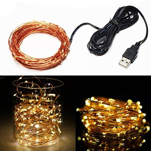 String Lights Qatar : Goalsun USB LED String Lights Copper Wire Lights Flexible Starry String Lights 33ft 100LEDs Warm ...