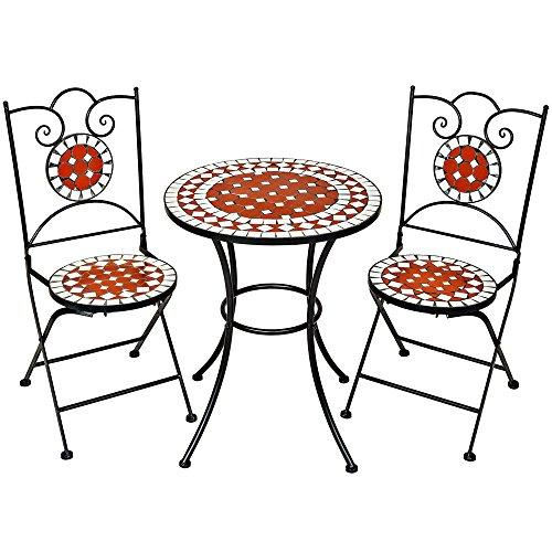 TecTake-Robustes-und-Hochwertiges-Mosaik-Gartenmbel-Set-2-Sthle-und-Tisch-terracotta