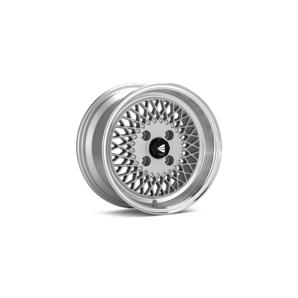 15x7 Enkei ENKEI92 (Silver w/ Machined Lip) Wheels/Rims 4x100 (465 570 4938SP)