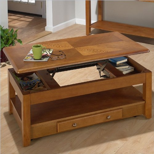 Details for Sedona Lift-Top Coffee Table on Casters in Oak Finish by Jofran
