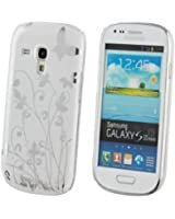 ECENCE Samsung Galaxy S3 mini i8190 i8200 Coque de protection rigide housse case shell papillon blanc 12020104