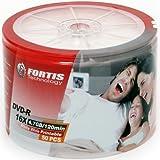 Fortis DVD-R 16x Imprimable, 50 pièces en shrink