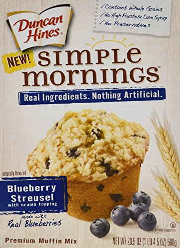 Duncan Hines Simple Mornings Muffin Mix - Blueberry Streusel - 20.5 oz - 2 Pack (Simple Mornings Muffin Mix compare prices)