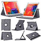 Stuff4 Case with 360 Degree Rotating Swivel Action and Screen Protector/Stylus Touch Pen for 8.4 inch Samsung Galaxy Tab Pro T320/T321/T325 - Grey