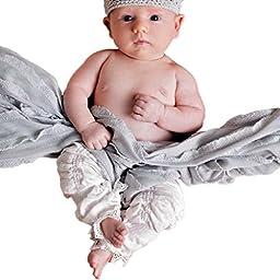 Huggalugs Baby Girls Vintage Cloud White Legruffle Leg Warmers Newborn