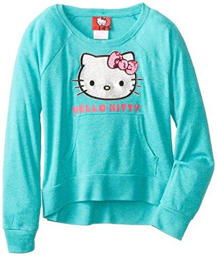 Hello Kitty Big Girls' Rib Pullover, Atlantis, 7 front-896329
