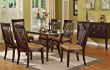 7pcs Dining Table and Chairs Set - Contemporary Style