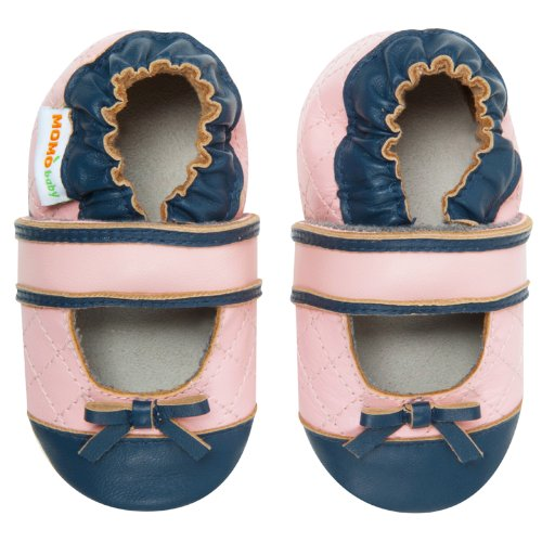 Momo Baby Infant/Toddler Quilted Mary Jane Pink Soft Sole Leather Shoes - 18-24 Months/6-7 M Us Toddler front-920060