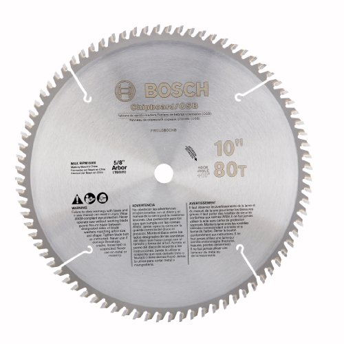 Bosch PRO1080CHB 10-Inch 80T Chipboard/Osb/Plastic Precision Series Saw Blade (Bosch Radial Arm Saw compare prices)